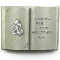 Foto 6 Gedenksteine Trauerbücher mit 4 verschiedenen Inschriften. Gedenkbuch mit Trauer Zitat