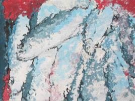 Gemälde Fische im Stapel