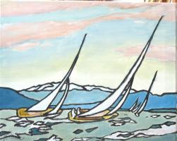 Gemälde Segelregatta
