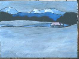 Gemälde Winterlandschaft i.Murnauer Land