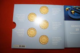 Foto 3 Gemeinschaftsausgabe 10 J. EUR Vollvergoldung 2009 - 22 EUR