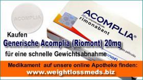 Generische Acomplia (Riomont) 20mg für eine schnelle Gewichtsabnahme!