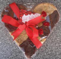 Genießer Herz Cookie 24x24 cm Geschenk für jeden Anlass!