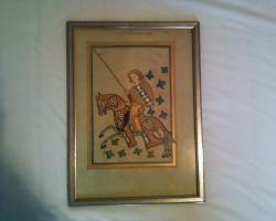 Foto 2 Gerahmte Bilderseiten aus dem Codex Manesse