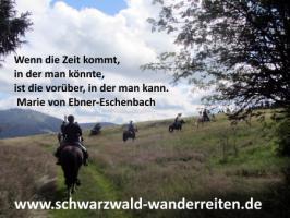 Foto 51 Geschenkidee für Reiter, Wanderreiter, Freizeitreiter - Wanderitt ab Todtmoos Au