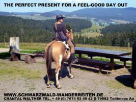 Geschenkidee für Reiterinnen / Reiter Abenteuer Wanderreiten im Naturpark Südschwarzwald