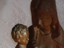 Foto 4 Geschnitzte Madonnen mit Jesuskind ca 45 cm und ca 35 cm hoch