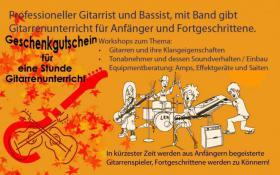 Gitarre lernen beim Gitarrenuntericht in Kiel 1 Stunde gratis