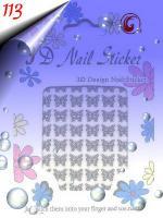 Foto 4 Glänzende Silber Sticker in verschiedenen Formen um 0.30€