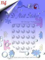 Foto 5 Glänzende Silber Sticker in verschiedenen Formen um 0.30€