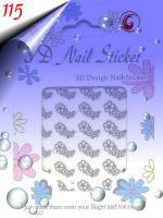 Foto 6 Glänzende Silber Sticker in verschiedenen Formen um 0.30€