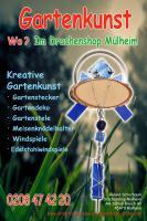 Glaskunst/Bleiverglasung/Glasdeko/Gartenkunst/Gartenstele/Gartenstecker/Deko in Mülheim-Essen-Duisburg-Oberhausen-Moers