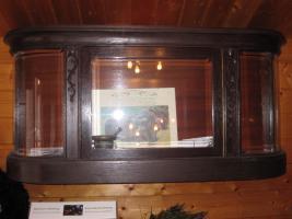 Glasvitrine, Antiquität, Sammlerstück, Antik, Eiche dunkel