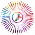 Glitzer Gelstifte Set  bunte Stifte 48 Farben  Gel Pen Gelschreiber Kugelschreiber set
