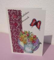 Foto 2 Glückwunschkarte mit Blumen