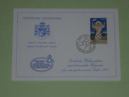 Glückwunschkarte aus Liechtenstein (1987)