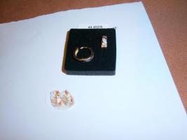 Gold 585 er Rosegold / Rotgold mit Weißgold Creolen Klappscharniere NEU