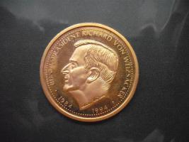 Gold Münze Bundesprasident Richard Von Weizsacker In Leipzig Von Privat
