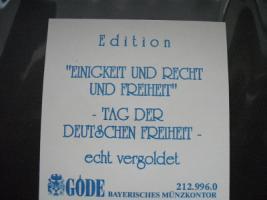 Foto 3 Gold Münze '' Einigkeit und Recht und Freiheit ''