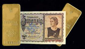 Goldbarren der Deutschen Reichsbank.