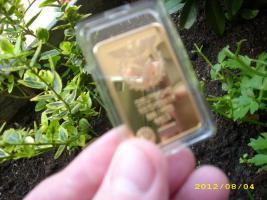 °°° Goldbarren (vergoldeter Barren)999/1000°°°