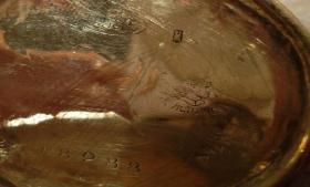 Foto 3 Goldene Taschenuhr 585 Gold (kleine Damenuhr mit langer Kette)
