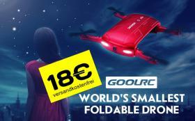 GoolRC T37 foldable Selfie Drone Quadcopter 18€ frei Haus