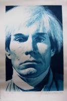 Gottfried Helnwein ( geb. 1948 Oesterreich ) Portrait of Andy Warhol.