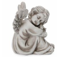 Grab Engel tröstend zur Grab Dekoration, Engel Figuren Trauer-Shop