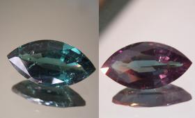 Granat mit Farbwechsel