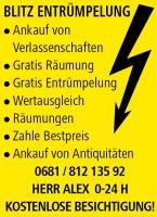 Gratis*Entrümpelung-Räumung 0660/6008128