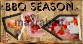 Grillsaison Logo und Druckvorlage
