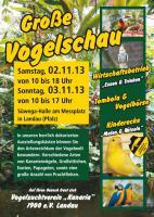 Große Vogelschau in Landau vom 02.-03.11.2013