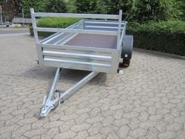 Großer stabieler Stahlblech Anhänger 750kg ca. 250. x 125 x 30cm