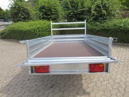 Foto 3 Großer stabieler Stahlblech Anhänger 750kg ca. 250. x 125 x 30cm
