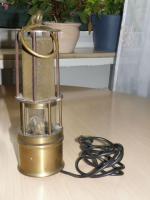 Grubenlampe umgebaut für 220V