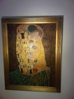 Foto 2 Gustaf Klimt Der Kuss 90x120cm ein Ölgemälde