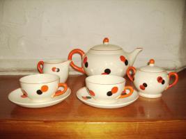 Foto 4 HARLEKIN Keramik Teeservice ''''Tee for two '''' ate Sammlerstücke