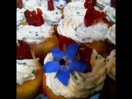 Olivenkuchen mit Kräutercreme - Mini - Muffins