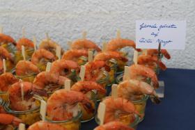 gebratene Garnele auf  Chilimango
