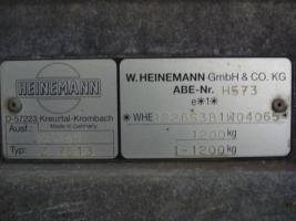 Foto 3 HEinemann 100 km/h zulassung 1,2 t GGw bei 240 Eigen Gew.