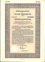HISTORISCHE WERTAPIERE 1927 MANNHEIM