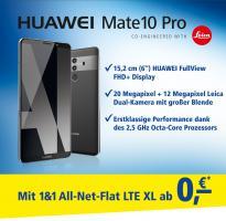 HUAWEI Mate10 Pro ab  0, –€ in Verbindung mit der 1&1All‑Net-Flat LTE XL!* + 3Frei-Monaten!*