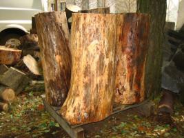 Foto 3 Hackklotz Kiefer (K4) damit sie selber ihr Brennholz hacken können