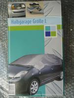 Halbgarage Größe L (ca. 284 x 147 x 55 cm), Autohaube, Faltgarage, Autoplane