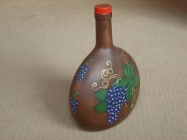 Foto 3 Handbemalte Weinflasche
