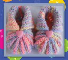 Foto 3 Handgestrickte Babyschuhe / Erstlingsschuhe / Krabbelschuhchen