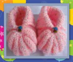 Foto 8 Handgestrickte Babyschuhe / Erstlingsschuhe / Krabbelschuhchen