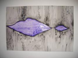 Handsigniertes Unikat von Künstler: modernes Acrylgemälde