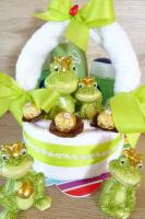 Handtuchkorb Froschkönig zum Geburtstag